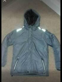 New boys winter warm coat fit 11 - 12