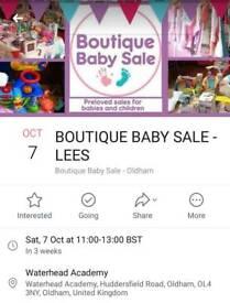 Boutique Baby Sale