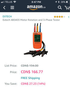 New Extech 3-phase tester