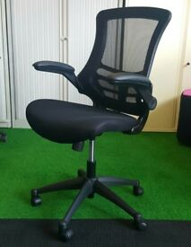 Deluxe mesh back operators chair cheap black fabric office furniture
