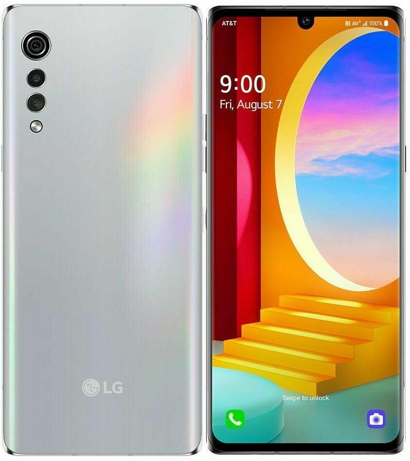 New LG Velvet 4G & 5G LMG900UM1 128GB Aurora Silver  Phone