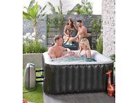 4 Person Square Black Hot Tub Spa