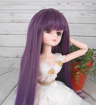"8-9 Custom Doll Wig fits 1/3 SD SDG BJD, Wellie Wisher.""Lill Spiced Plum  bn1"
