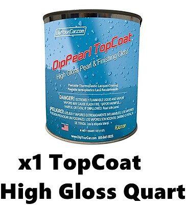 Plasti Dip Dyc 1 Quart Topcoat Finishing High Gloss Dip Pearls Coating Spray