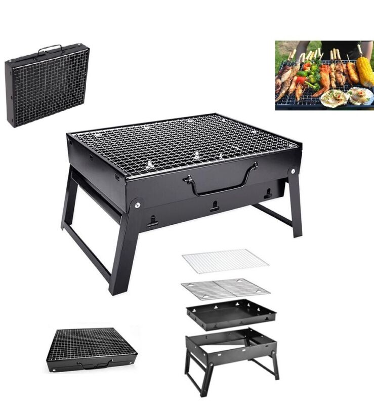 Portable Compact Charcoal Barbecue BBQ Grill Outdoor Camping
