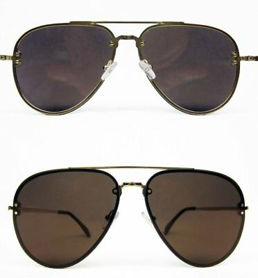 Celine CL 42391/S J5G LC Aviator Sunglasses Gold and Tortoise Tips Brown Lenses