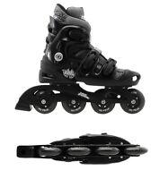 No Fear Adult Mens/boys Adjustable Inline Skates Roller Blades Skates 5 6 7 8 Uk - no fear - ebay.co.uk