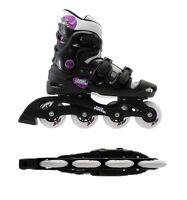 No Fear Ladies/girls Adjustable Inline Skates Roller Blades Skates 5 6 7 8 Uk - no fear - ebay.co.uk