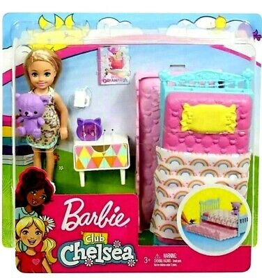 Barbie Club Chelsea Doll & Bed Bedroom Playset from Mattel