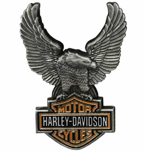 Harley Davidson® Up-Winged Eagle Bar & Shield Pin Antique Finish Vest Jacket Pin