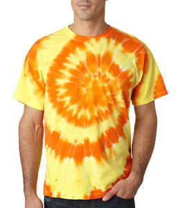 Gildan Tie Dye Multi-Color Swirl Tee Plain T-Shirt Men's 86