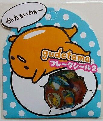Sanrio Gudetama Egg Sticker Sack Pack flakes Japan New