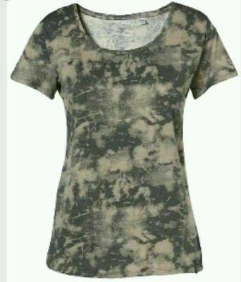 O'NEILL Womens Grey AOP Arctic Short Sleeve T-Shirt Top Ladies XS S XL BNWT