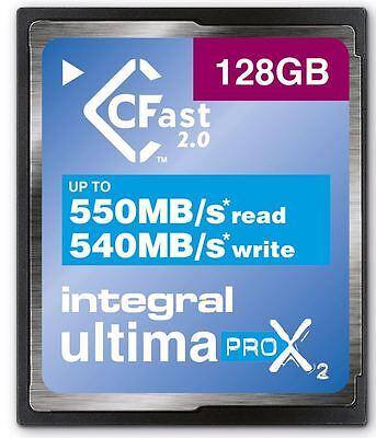 Integral 128GB 3666X Speed UltimaPro X2 CFast 2.0 Card. INCFA128G-550/540