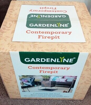 Gardenline Contemporary Square Fire Pit Basket | Brand New | In Hand