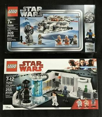 Lego  Star Wars Snowspeeder 75259 and Hoth Medical Chamber 75203 - NIB - 2 Lot