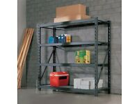 2 x Industrial/Heavy Duty Shelving Units by Whalen at Costco H 183 x W 195 x D 61 cm