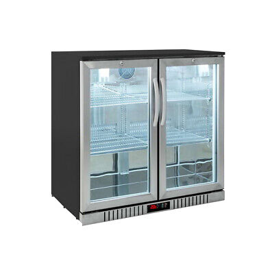 Procool Residential 2-door Stainless Back Bar Beverage Cooler - Home Bar Fridge