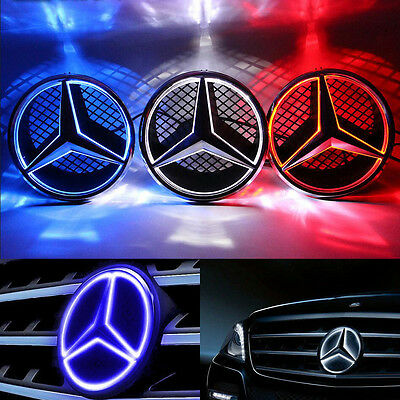 Motors Front Grille Star Emblem Fits Mercedes Benz Illuminated LED Light 06-13