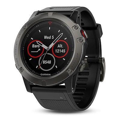 Garmin Fenix 5X Sapphire Slate Gray With Black Band Gps Watch 51Mm 010 01733 00