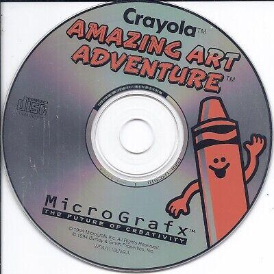 vintage MicroGrafx software CD -Crayola Amazing Art Adventure Kids Art Learning