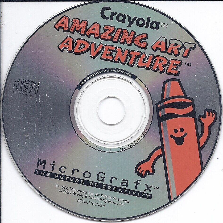 vintage MicroGrafx software CD -Crayola Amazing Art Adventure Kids Art Learning