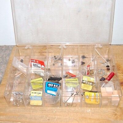 Vtg Lot of RC Misc Parts Crummy Compartment Container Model Airplanes Boat (F4)