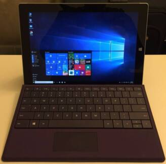 Surface 3 128GB SSD 4G Ram tablet with type cover smart keyboard