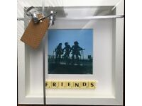 White Framed : Friends Scrabble Picture