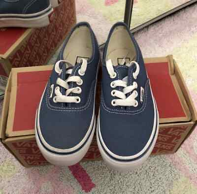 Kids Girls Boys Unisex Blue Vans Authentic Junior BNIB Size UK13 RRP £32