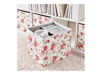 BRAND NEW Mini chest with 2 drawers, and additional floral patterned box