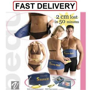 Electric Sauna Slimming Belt Body Shaper Weight Loss Fat cellulite Burner UK NEW
