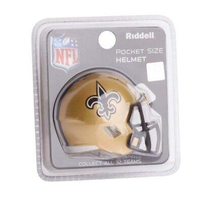 NFL New Orleans Saints Helmet Riddell Pocket Pro SPEED Style Mini Team Helmet](Nfl New Helmets)