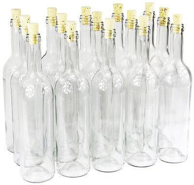 che mit Korken Glasflasche leere Flasche Likör Wein neu (Glas Flasche Mit Korken)