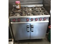 Commercial gas cooker