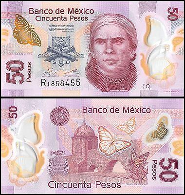 Mexico 50 Pesos, 2015, P-123A, UNC, Series-Q, Polymer