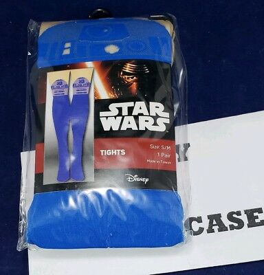 New Blue Star Wars R2D2 Women's Tights (Size S-M) r2-d2 Free - Star Wars Tights
