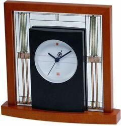 Bulova B7756 Willits Frank Lloyd Wright Table Clock, Light Cherry Finish NWT