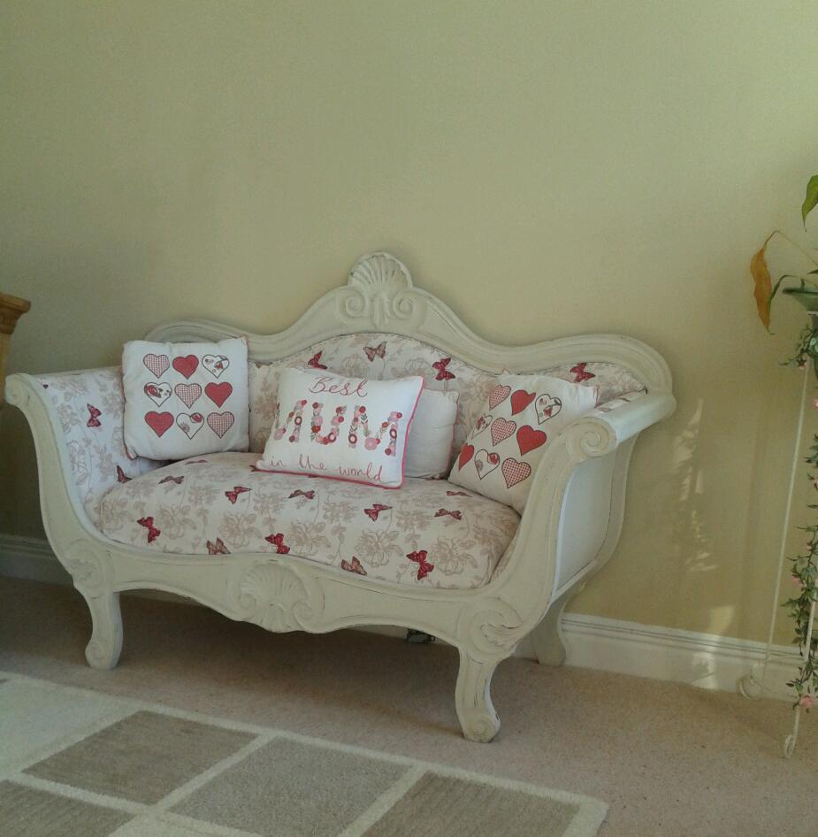 Beautiful wooden detailed sofa unfinished project