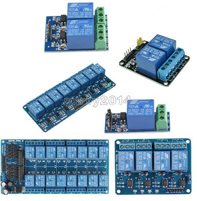 12v 124816 Channel Relay Module With Optocoupler For Pic Avr Dsp Arm Arduino