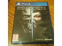 Ps4 Dishonoured 2 game.