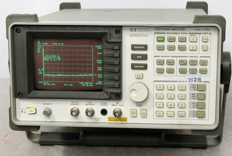 HP 8590A Spectrum Analyzer 10Khz to 1.5Ghz  Tested  Nice