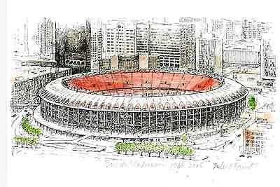 OLD BUSCH STADIUM PRINT - great gift for St. Louis Cardinals / Cards fans! FAUST - Old Busch Stadium