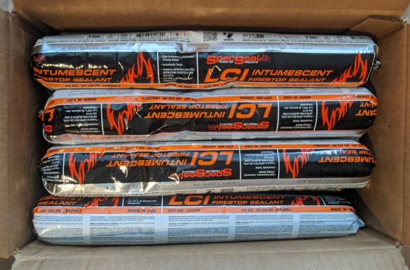 LCI FireStop Sealant LCI320 Spec Seal 20oz- Qty 12- New in Box