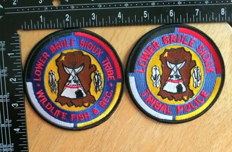 Lower Brule Sioux Tribal Police And Wildlife Fish & Rec. Patches