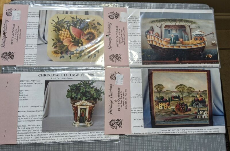 4 Heritage Painting Betty Caithness Decorative Tole Painting Craft Art Patterns