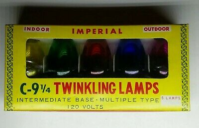 Vintage Imperial C-9-1/4 Twinkling Lamps Christmas Lights