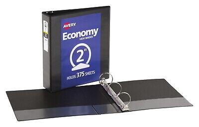 Avery Economy Ring Binder 2 Inch Capacity 8-12 X 11 Inches Black