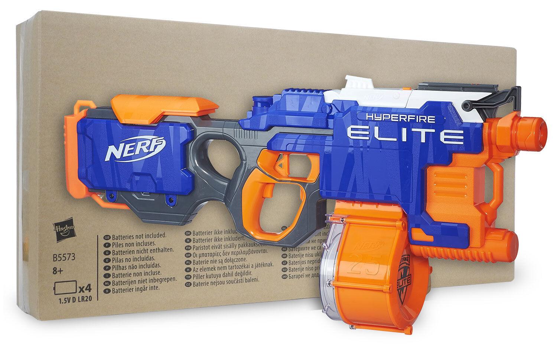 Nerf N-Strike Elite Hyperfire in Recycling-Verpackung - schießt 5 Darts/Sekunde!