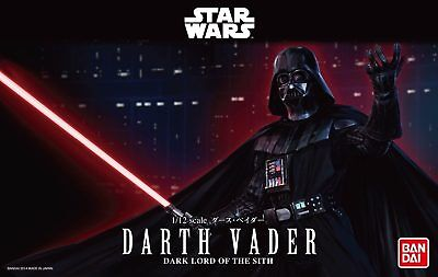 Bandai Star Wars DARTH VADER 1/12 Scale Plastic Model Kit Figure NIB - USA